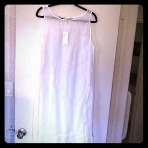 Eileen Fisher Tops - White Eileen Fisher linen sheer long shirt